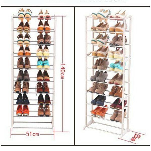 【省錢博士】高強度鞋架 組合式鞋架 簡易鞋櫃 白色多層 219元