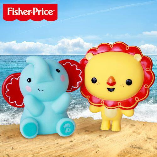 費雪 Fisher-Price 小獅子 小象軟膠玩具★愛兒麗婦幼用品★
