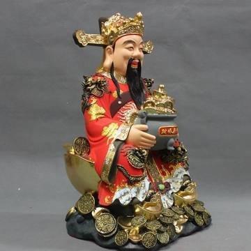開光文財神 財神爺像 陶瓷擺件 家居裝飾品 店鋪招財