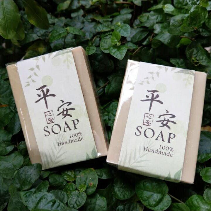 【貞手作】艾草平安皂 手工皂 中性/乾性/油性 草本 冷製皂 季節限定 100g± 5g