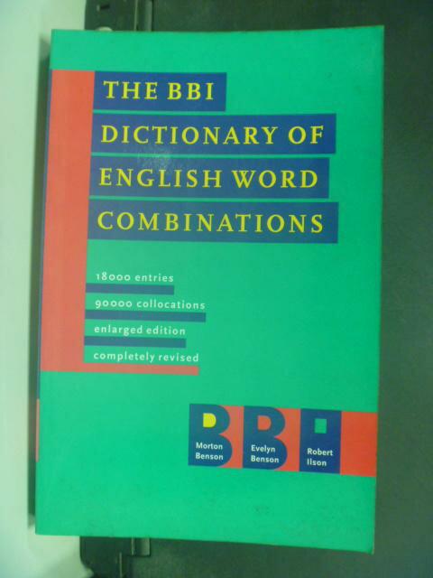 ~書寶 書T2/字典_KKG~The Bbi Dictionary of English