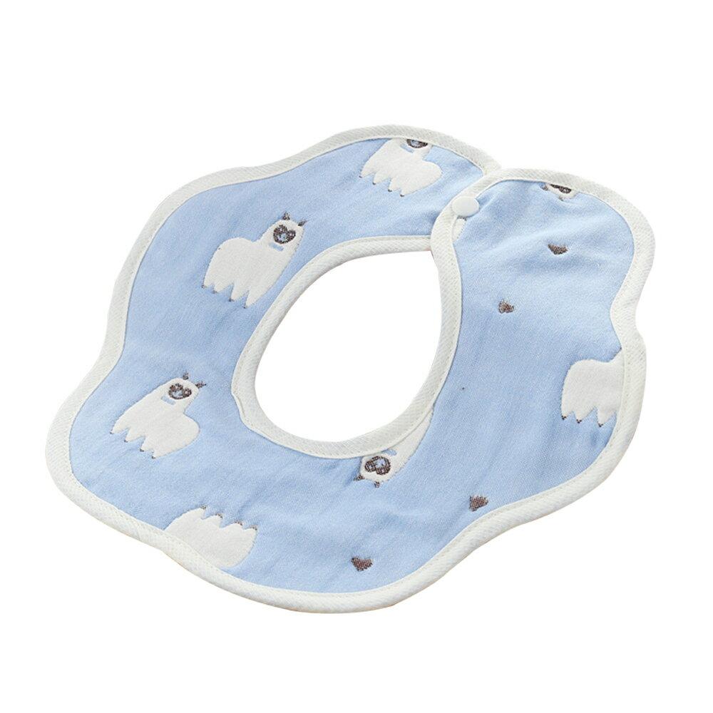 圍兜 六層花邊紗布口水巾寶寶用品-JoyBaby