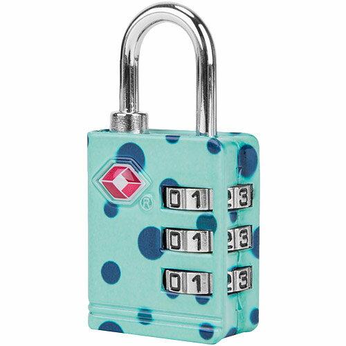 《TRAVELON》TSA三碼防盜密碼鎖(藍點)