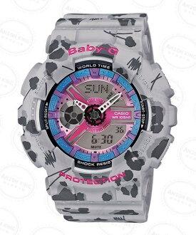 國外代購CASIO BABY-G BA-110FL-8A 花豹紋灰 雙顯 防水 手錶 腕錶 情侶錶