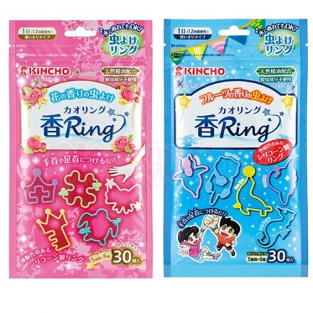 日本 kincho 防蚊手環 (30枚入/包) 花香/果香