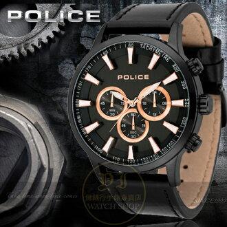 POLICE義大利國際品牌型男時尚潮流計時腕錶15000JSB-02原廠公司貨