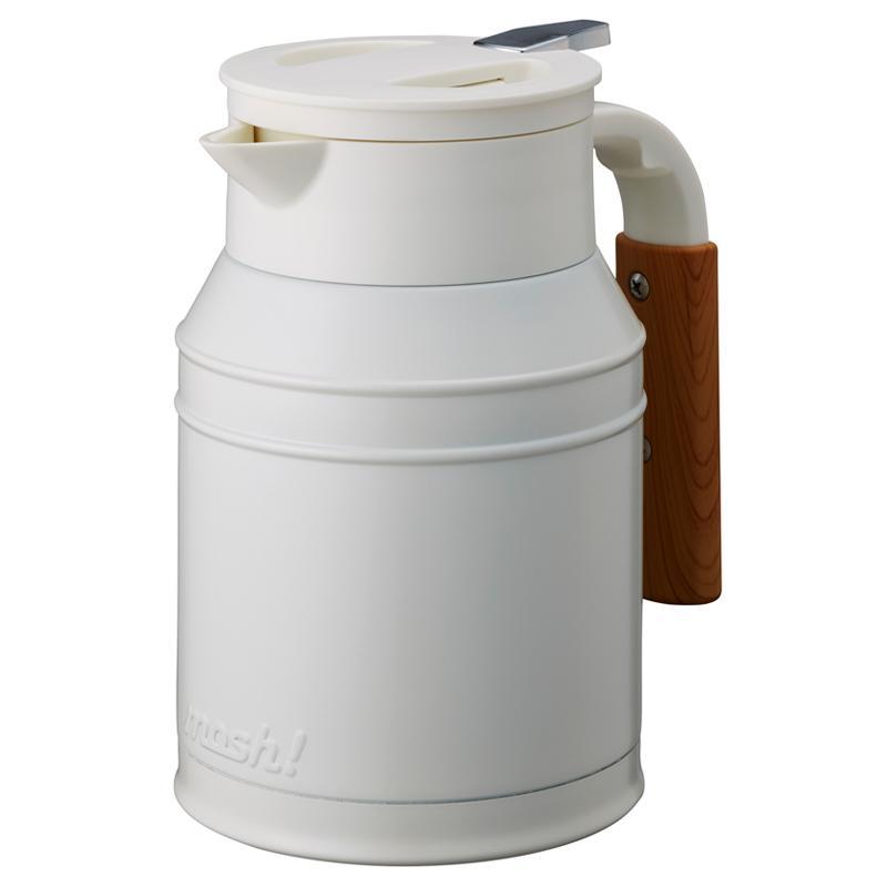 【日本mosh!】牛奶白 牛奶罐保溫壺 (1000ml) 0