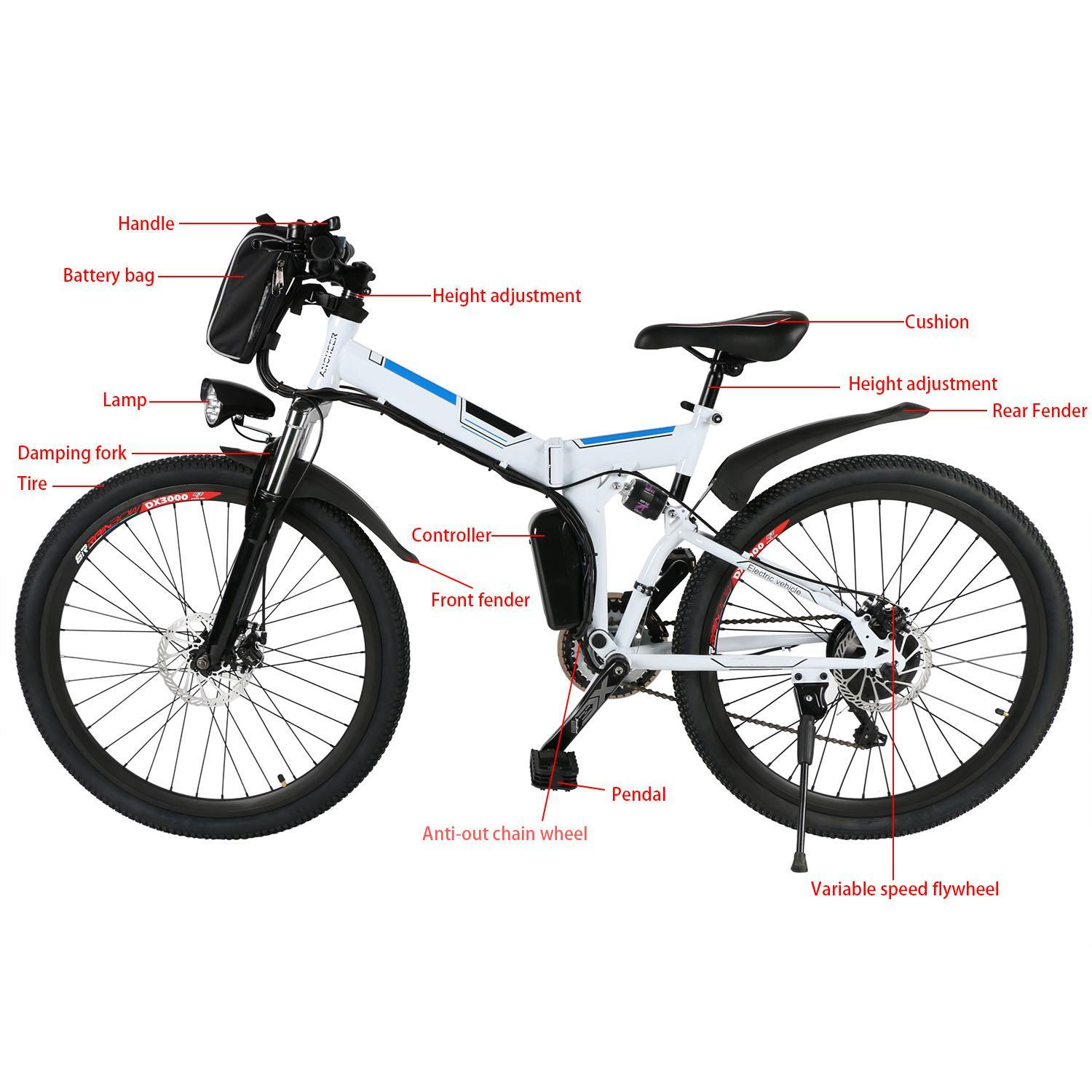 26inch 36V Foldable Electric Power Mountain Bicycle with Lithium-Ion Battery 1
