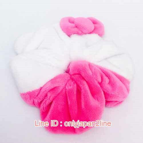 【真愛日本】17012500003絨毛大腸圈-KT白粉  三麗鷗 Hello Kitty 凱蒂貓  髮飾 飾品