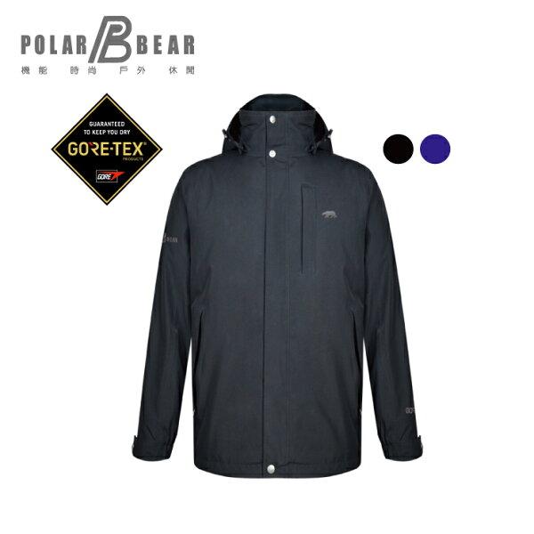 【POLARBEAR】男GORE-TEX2合1鴨絨羽絨外套(700FP)