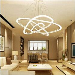 後現代客廳燈簡約時尚大氣臥室餐廳辦公室圓環形個性創意led吊燈 英雄聯盟 MBS