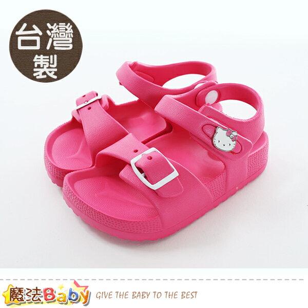 女童鞋台灣製HelloKitty正版超輕涼鞋魔法Baby~sk0476