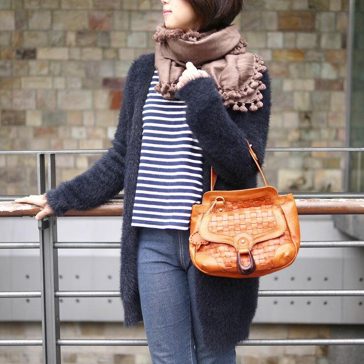 <br/><br/>  日系都會休閒款 牛皮編織肩背/斜背包 咖啡色 Made by ROBITA<br/><br/>