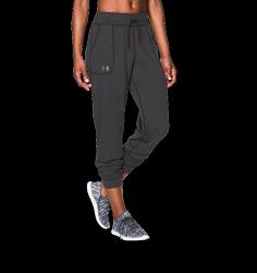 《UA出清5折》Shoestw【1271689-090】UNDER ARMOUR UA服飾 縮口長褲 運動褲 灰色 女生