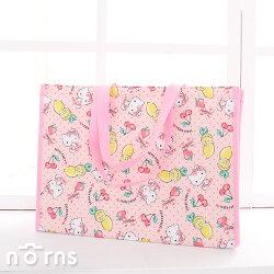 【Hello Kitty保溫保冷手提袋 購物型XL號】Norns 環保購物袋 保溫袋 保冷袋 寬底超大容量 防潑水 外出包 凱蒂貓 三麗鷗正版授權