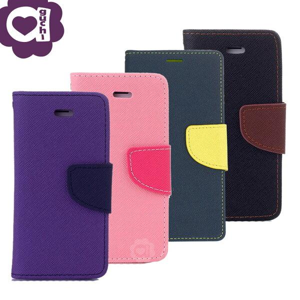 ASUSZenFoneLiveZB501KL馬卡龍雙色系列側掀支架式手機皮套磁吸扣帶紫粉藍黑棕多色可選