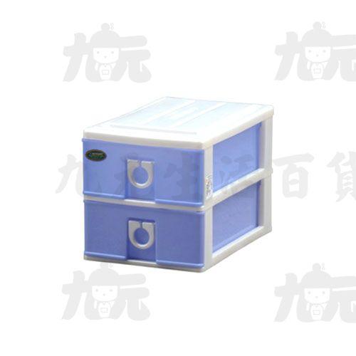 【九元生活百貨】聯府LA302小連環二層櫃置物收納