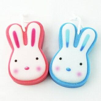 【珍昕】 小兔專利雙層雙效沐浴海綿~2色/藍色.粉紅(15x9.5x4.3cm)