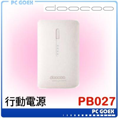 doocoo PB-027 白 行動電源 iplam3 2Gen 9000mAh ☆pcgoex 軒揚☆