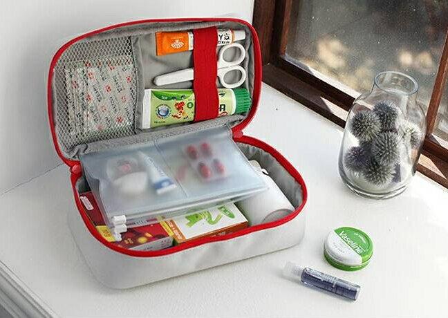 【迪特軍3C】旅行便攜手提醫藥包急救包藥包雜物整理收納包大號