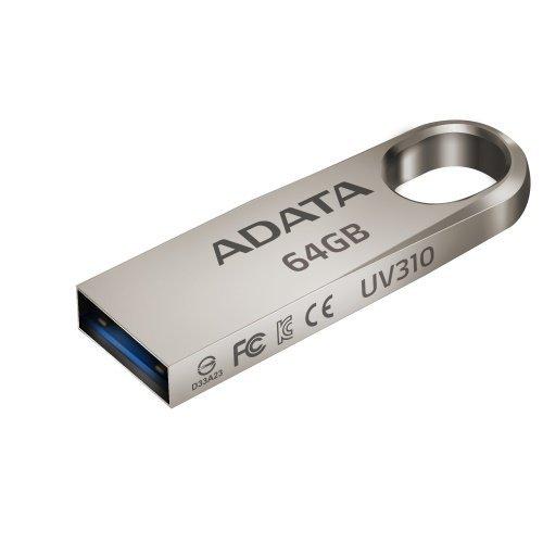 【新風尚潮流】威剛隨身碟64GBUV310金屬外殼USB3.1防潑水抗震防塵有吊飾孔AUV310-64G