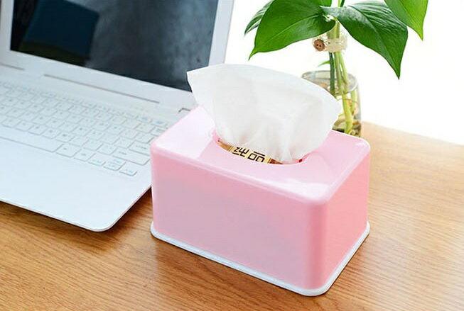PS Mall 糖果色紙巾盒家用客廳茶几桌面抽紙盒【J008】 6