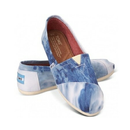 【TOMS】水洗牛仔帆布休閒鞋  Blue Tie-dyed Women's Classics 0