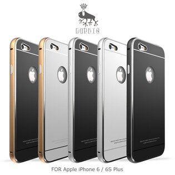 強尼拍賣~LUPHIEAppleiPhone66SPlus金屬邊框鋼化背殼9H鋼化背板耐磨防刮保護殼(預購)