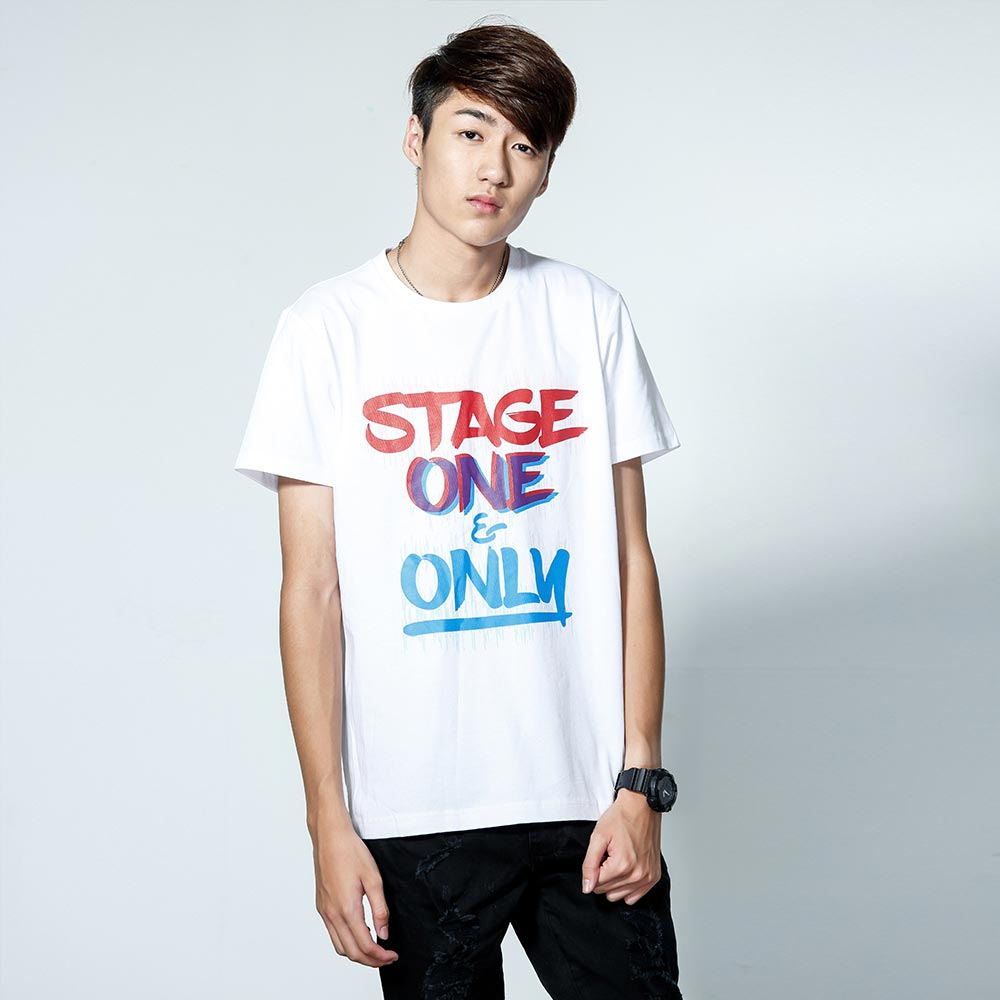 STAGEONE ONE & ONLY BRUSH TEE 黑色 / 白色 兩色 2