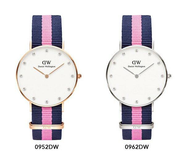 瑞典正品代購 Daniel Wellington 0952DW  玫瑰金 尼龍 帆布錶帶 女錶手錶腕錶 26MM 3