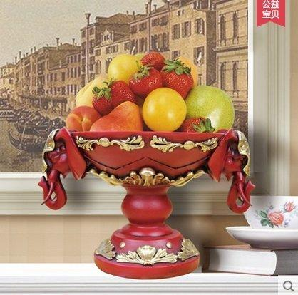 歐式奢華高檔創意客廳家居裝飾品大象水果糖果盤結婚禮物擺件(圖一)