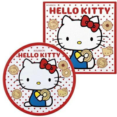 【Bourbon北日本】Hello Kitty奶油餅乾禮盒(紅) (338g) ハローキティ バタークッキー缶