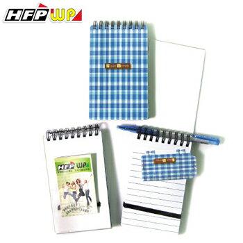 HFPWP 藍格子 口袋型筆記本100張內頁附索引尺台灣製 N3351PL / 本
