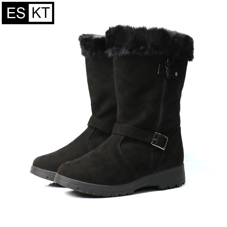 ESKT 女中筒雪鞋SN225  城市綠洲 (雪靴、防潑水、刷毛、冰爪) 0