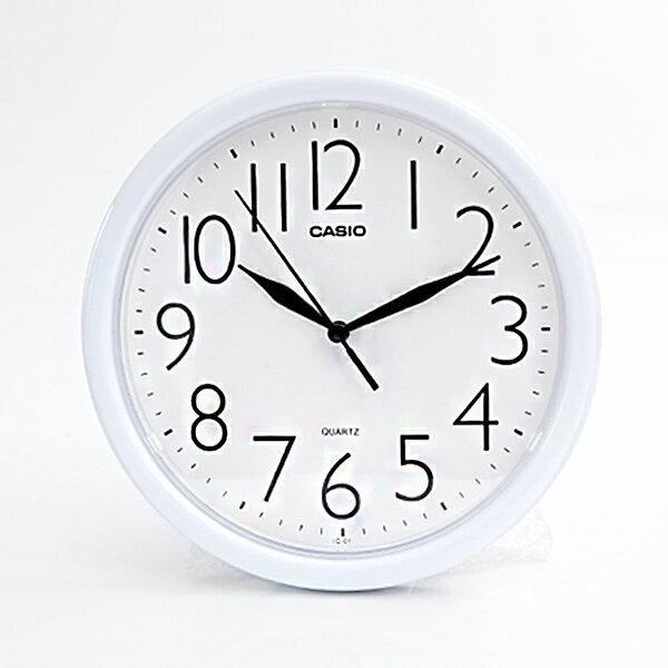 時鐘CASIO簡潔淨白圓形居家【NVC3】柒彩年代