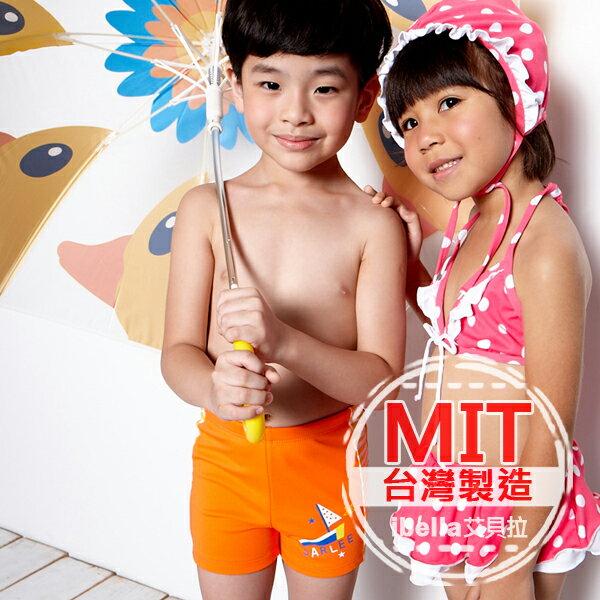 小男童泳褲 MIT台灣製造帆船塗鴉印花二分泳褲【36-66-85901】ibella 艾貝拉