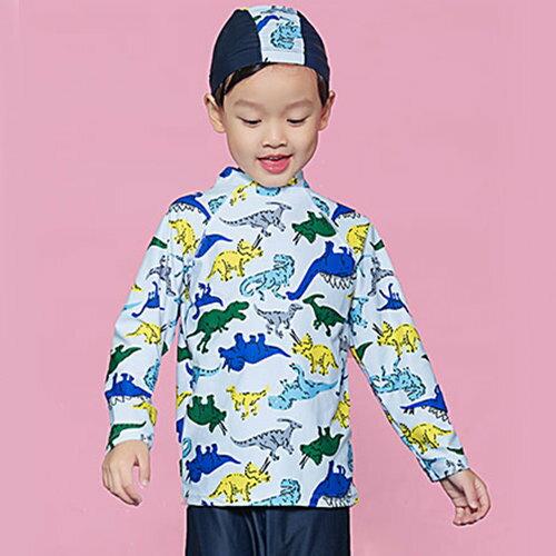 BOBI:兒童泳裝卡通圖騰立領長褲兩件套長袖兒童泳裝【SFC2013】BOBI1214