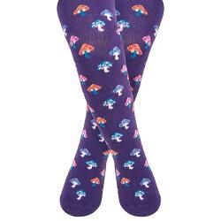 【愛寶貝】英國 JoJo Maman BeBe 花漾嬰幼兒小童內搭褲襪/保暖襪_紫色魔菇(JJL002)