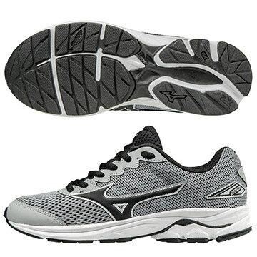 K1GC172510(灰X黑)親子人氣共同鞋款 WAVE RIDER 20 Jr.童鞋 S【美津濃MIZUNO】