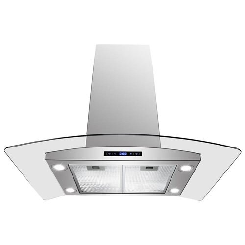 "AKDY 30"" GV-AIS2-30 Europe Style Stainless Steel Island Range Hood Touch Sensor Control 0"
