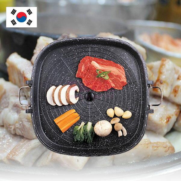 韓國 Hanaro 排油烤盤 (方形) 32cm 火烤兩用 韓式烤肉 油切烤盤 室內 戶外 烤肉 烤盤 健康烤盤【特價】§異國精品§