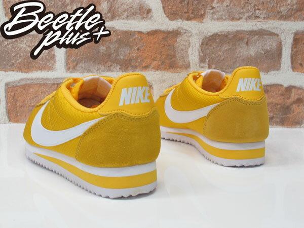 女生 BEETLE NIKE CLASSIC CORTEZ NYLON 亮黃 阿甘鞋 慢跑鞋 749864-717 1