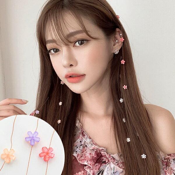 SISI【A20002】韓國火紅愛心白珍珠花朵隱形髮夾甜美頭飾髮飾BB夾髮梳流線髮夾編髮小物網紅最愛