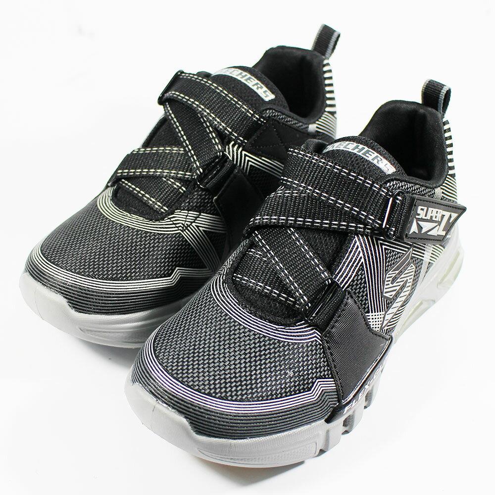 (A9) SKECHERS 童鞋 男童系列 燈鞋 運動鞋 FLEX GLOW - 90543LBKCC 黑【陽光樂活】