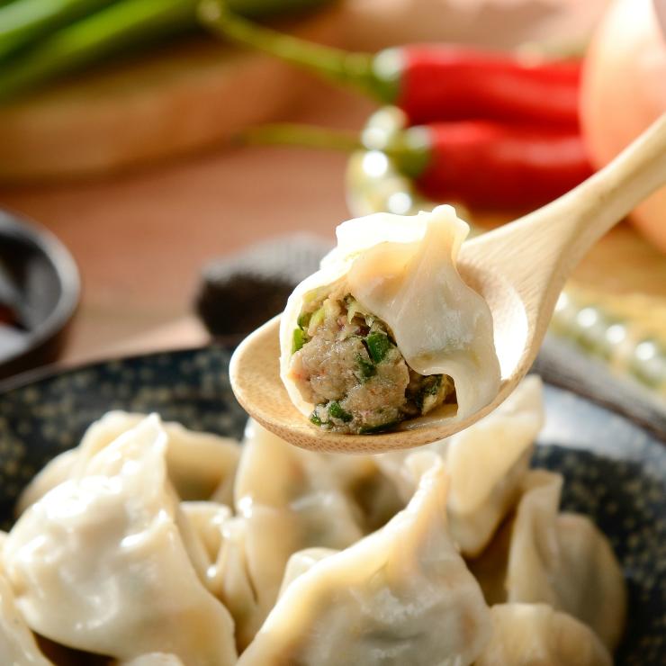 鮮韮菜豬肉水餃30粒/包,每包660g(誤差約正負10g)