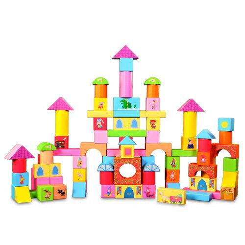 粉紅豬小妹配對圖型桶裝積木組/ 100 PEPPA PIG BLOCKS PACK/ 積木/ 益智/ 伯寶行