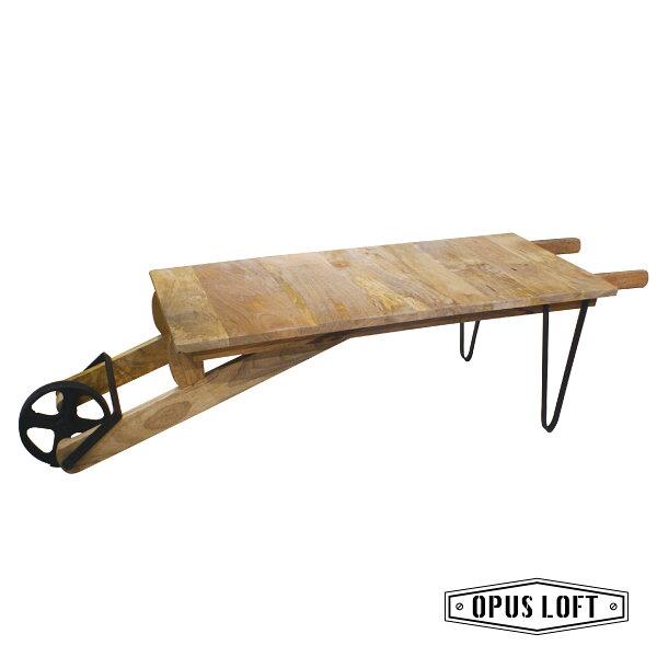 ★熱銷★復古工業風原木台車移動式咖啡桌茶几原木茶几