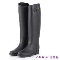 下雨天推薦雨靴/雨傘/雨衣推薦下殺限時免運 JK015 現貨 新款防水高筒修身搭扣雨鞋-黑/咖啡