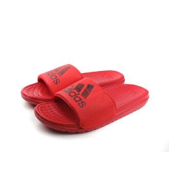 adidas 拖鞋 男鞋 紅色 no348