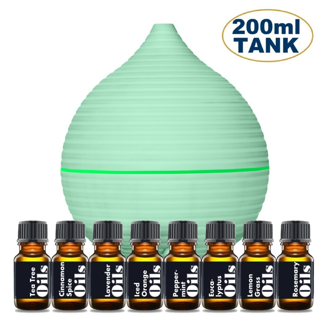 Exuby Exuby Essential Oil Diffuser Starter Kit Includes Top 8